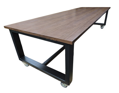 Conference Table Rolling BurntRock - Rolling conference table